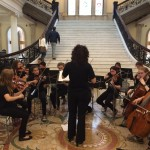 State House with Wayland Middle School string ensemble