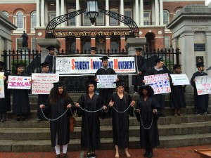 Carmine spoke at the Student Immigrant Movement State House event