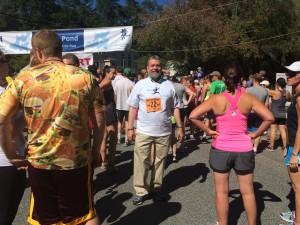 Carmine at Dudley Pond Run, Walk & Kids Run in Wayland