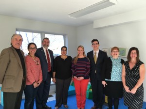 Carmine visiting Criterion Child Enrichment Center in Framingham