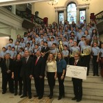Carmine at State House with Sudbury Curtis Middle School students