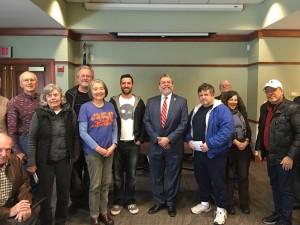 Carmine meeting 350 Mass Environmental group in Sudbury