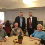 Carmine at Marlborough Senior Center with Mayor Arthur Vigeant