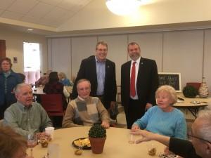 Carmine at Marlborough Senior Center with Mayor Arthur Vigeant