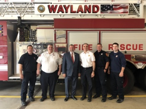 Visit with Wayland Firefighters
